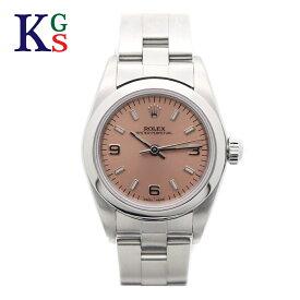 【ギフト品質】【SPECIAL梱包】ロレックス/ROLEX レディース 腕時計 オイスターパーペチュアル アラビアインデックス ピンク文字盤 シルバー 76080 自動巻き 1015