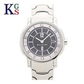【新古品】ブルガリ/BVLGARI レディース 腕時計 ソロテンポ 黒文字盤 ホワイトインデックス ステンレススチール クオーツ ST29S