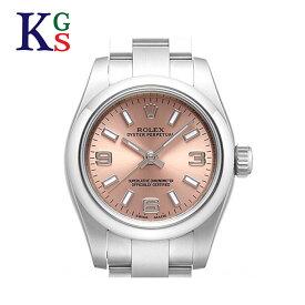 【新古品】ロレックス オイスターパーペチュアル ピンク文字盤 レディース 腕時計 ルーレット刻印 自動巻き 176200