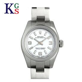 【ギフト品質】ロレックス ROLEX オイスターパーペチュアル ホワイト文字盤 レディース 腕時計 ルーレット刻印 自動巻き 176200 誕生日 記念日 プレゼント ギフトラッピング 正規品【中古】