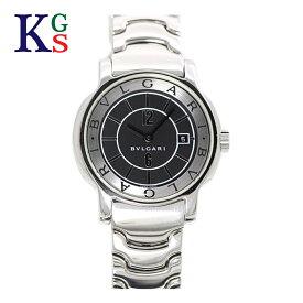 【新古品】ブルガリ/BVLGARI レディース 腕時計 ソロテンポ 黒文字盤 シルバーインデックス ステンレススチール クオーツ ST29S