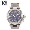 【新古品】カルティエ/Cartier ユニセックス 腕時計 パシャC ビッグデイト ネイビー文字盤 W31047M7 オートマチック 自動巻き ステンレススチール 旧タイプ