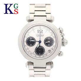 【ギフト品質】カルティエ/Cartier メンズ 腕時計 パシャC クロノグラフ シルバー文字盤 自動巻き W31048M7 誕生日 記念日 プレゼント ギフトラッピング 正規品【中古】