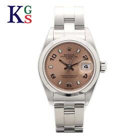 【ギフト品質】ロレックス/ROLEX レディース 腕時計 オイスターパーペチュアル デイト ピンク文字盤 アラビアン&バー インデックス ステンレススチール 79160