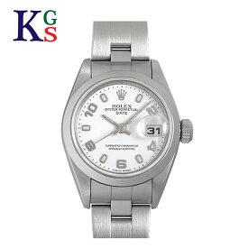【ギフト品質】ロレックス/ROLEX レディース 腕時計 オイスターパーペチュアル デイト ホワイト文字盤 アラビアン&バー インデックス ステンレススチール 79160