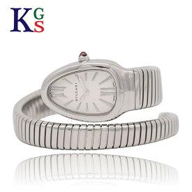 【ギフト品質】ブルガリ/BVLGARI レディース 腕時計 セルペンティ トゥボガス シルバー文字盤 ステンレススチール クオーツ SP35S 101817 1227