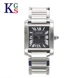 【ギフト品質】カルティエ/Cartier レディース 腕時計 タンクフランセーズSM ブラック文字盤 ステンレススチール W51026Q3 1227