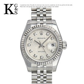 【ギフト品質】ロレックス/ROLEX レディース 腕時計 デイトジャスト シルバー コンピューター文字盤 10Pダイヤ ホワイトゴールド K18WG×ステンレススチール 自動巻き オートマチック 179174G