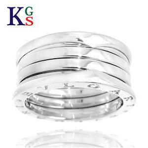 【サステナブル&ギフト品質】ブルガリ/BVLGARI レディース メンズ ジュエリー ビーゼロワン リング/指輪 ホワイトゴールド K18WG 328131 1015
