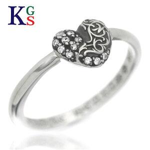 【ギフト品質】クロムハーツ/CHROME HEARTS レディース ジュエリー リング 指輪 バブルガム ハート Ag925 ダイヤ シルバー