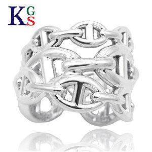 【ギフト品質】【SPECIAL梱包】エルメス/HERMES シェーヌダンクル アンシェネGM リング 指輪 Ag925 シルバー