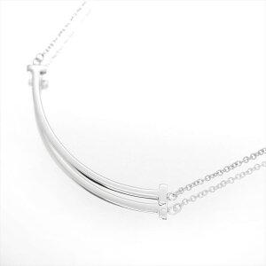【ギフト品質】【SPECIAL梱包】ティファニー/Tiffany&co レディースジュエリー Tスマイル ネックレス ミニ K18WG 誕生日
