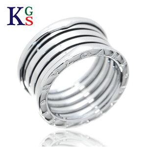 【ギフト品質】【SPECIAL梱包】【名入れ】ブルガリ/BVLGARI ビーゼロワン 5バンドリング 指輪 ホワイトゴールド/K18WG 誕生日