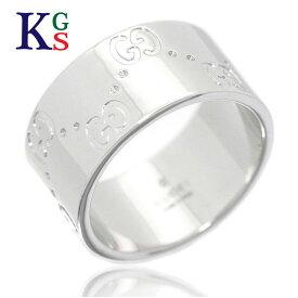 【ギフト品質】グッチ/GUCCI アイコンリング ワイド 指輪 ホワイトゴールド/K18WG 誕生日 記念日 プレゼント ギフトラッピング【中品】