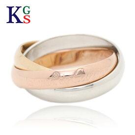 【ギフト品質】【名入れ】カルティエ/Cartier / ジュエリー リング 指輪 レディース メンズ / トリニティリング SM 3カラー ゴールド YG/WG/PG 750/K18 3連 B4086100