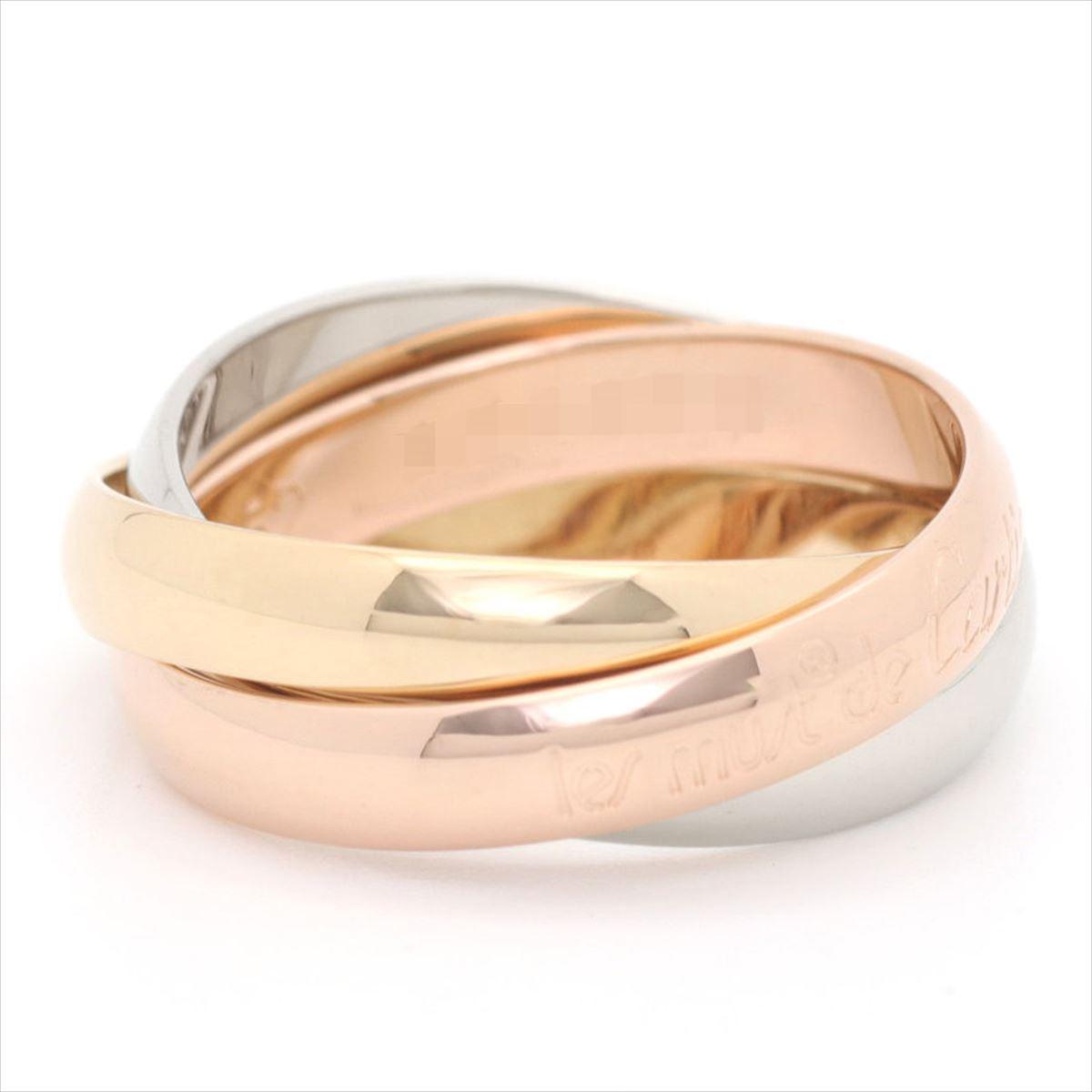 【新古品】カルティエ/Cartier / ジュエリー リング 指輪 レディース メンズ / トリニティリング 3カラー ゴールド YG/WG/PG 750/K18 3連 B4086100