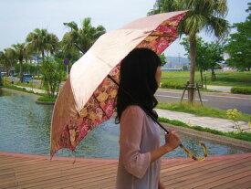 【楽天ランキング5位入賞】レディース雨傘長:「バックフラワー」外側無地、内側の花柄がおしゃれで綺麗なジャンプ傘〜リーズナブルな日本製!店長おすすめ!【RCP】バッグ・小物・ブランド雑貨 傘 女性用[傘一番館] 母の日