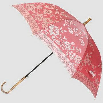 【レビューで5%OFF&送料無料】レディース雨傘長:高級傘甲州織のバラ(ローズ)が上品でおしゃれなジャンプ傘:kirie(キリエ)槙田商店〜高品質な日本製