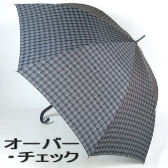 Men's umbrella length: 70 cm high jump umbrella:MICHEL KLEIN (Michelle clan) a simple check is a stylish jump umbrella bags, accessories & brand accessories fashion accessories and small umbrellas for men new 05P05Dec15