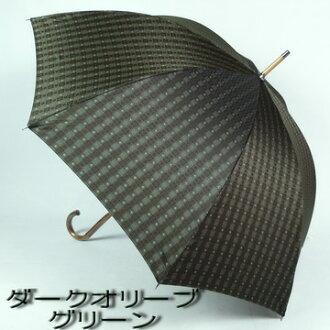 男人的丈夫在日本箱包配饰品牌商品伞男士伞伞男士时尚长伞染织物泰勒块模式织物图案模式天然木材木材杆 FIGOSTILOSO figostirosso 手打开按钮长度男士遮阳伞大多数建筑产品