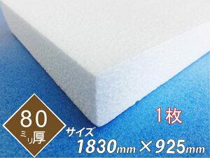 発泡スチロール 板 ボード 断熱材 レフ板 パネルボード ディスプレイ 節電 1830×925×80 1枚 送料無料