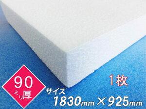 発泡スチロール 板 ボード 断熱材 レフ板 パネルボード ディスプレイ 節電 1830×925×90 1枚 送料無料