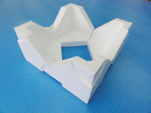梱包材 角当て コーナーパット コーナークッション 発泡ポリエチレンコーナーパット 100mm×20mm厚 40個(4個×10セット)