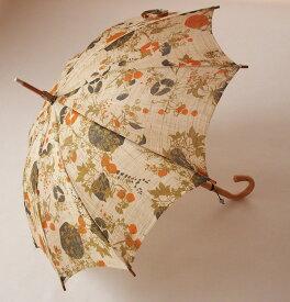 *SALE*旧品番商品前原光榮商店 麻日傘◆麻景色(あさげしき)婦人パラソル※ 製造終了の旧品番モデルのため特別価格でのご奉仕です。最高ランクの奈良麻を使った気品あふれる日傘、とんぼ玉がついています