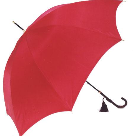 WAKAO【ご予約品】2018年3月上旬仕上◆イマージュ◆センチュリーレッド(スリム長傘)ワカオ 「赤い傘」シリーズでしゃばりすぎない55cmフェミニンサイズが大好評※三本映っている写真の真ん中の傘