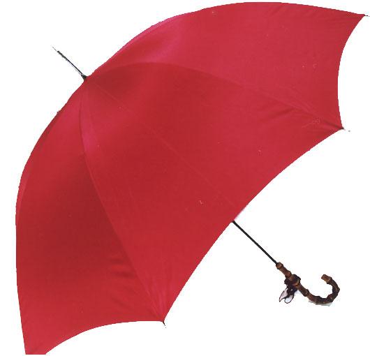 WAKAO【名入れOK】◆WAKAOスレンダーデライトNEXT センチュリーレッド(オールカーボンLL寸婦人長傘)軽くて大きい傘即納できます、お名前入りチャームは約10日所要三本映っている写真の一番上の竹ハンドルのL寸長傘です