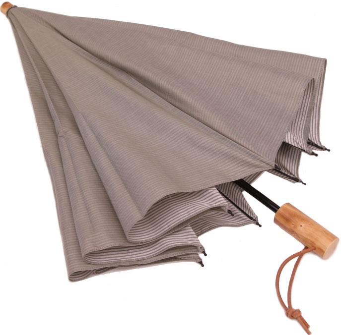 WAKAOワカオ◆店主おすすめ色◆お洒落な男の日傘◆二段折傘 男性用日傘◆デュアルシャンブレー(パストラルグリーン)