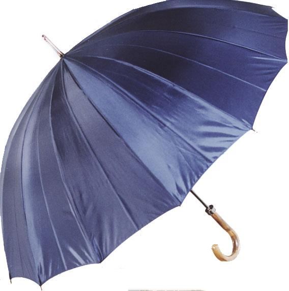 ◆ミスター・ジュピター(ハットフィールド - ネイビー系) カーボン16本骨紳士傘