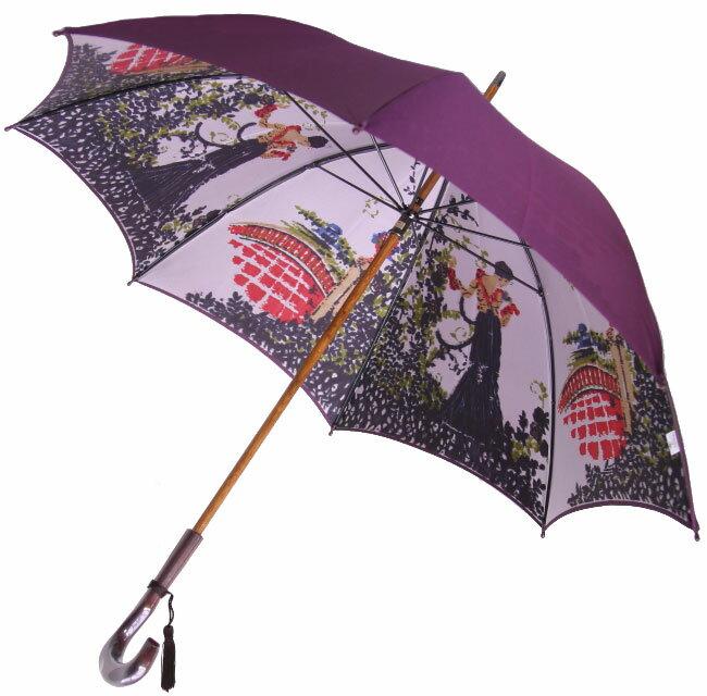 NEW【両面ほぐし織】長傘『舞姫』パープルモンブランヤマグチほぐし織り軽量カーボン骨バージョン