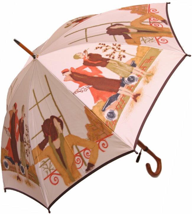 ◆モダンミセス(長傘) モンブランヤマグチ ほぐし織り 婦人雨傘