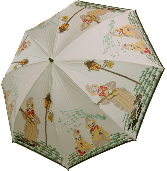 【シャンソンストリート(ドリーミング・アイボリー)】モンブランヤマグチほぐし織り(二段折畳傘)