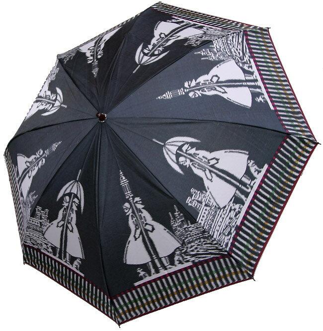 【ガス燈】(マイルドブラック)モンブランヤマグチほぐし織り(二段折畳傘)