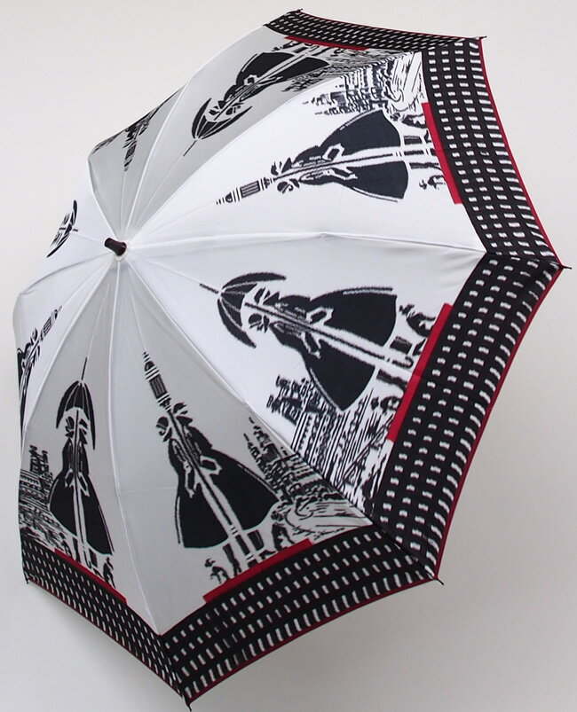 【ガス燈】(マイルドホワイト)モンブランヤマグチほぐし織り(二段折畳傘)