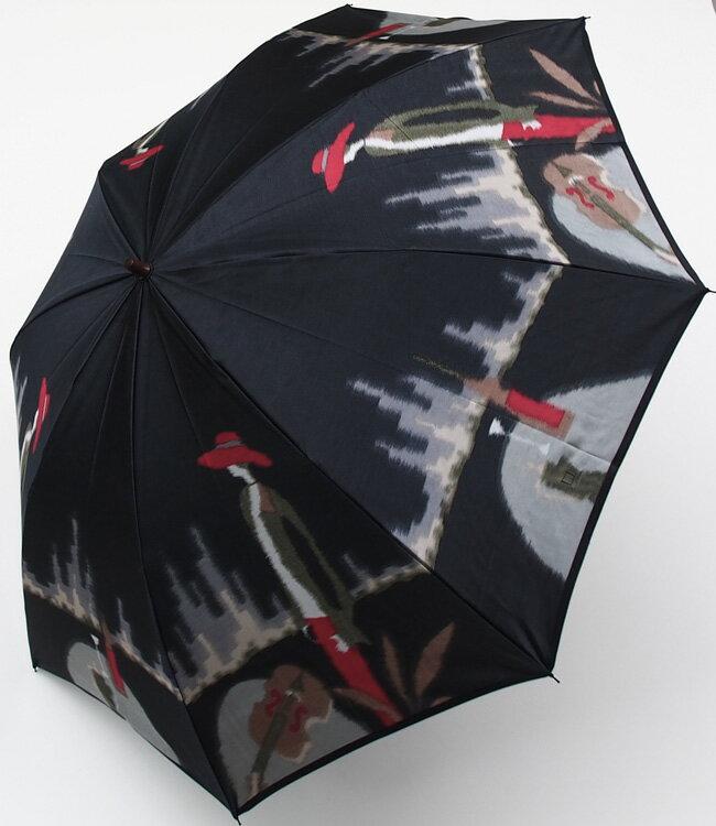 【愛の翼(空港)】(マイルドブラック)モンブランヤマグチほぐし織り(二段折畳傘)