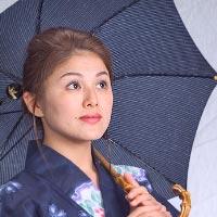 日傘 和木綿(わもめん)パラソル 婦人傘 (心藍)