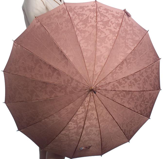 ■受注作成【所要約3カ月】Royal16 for MEN(ライトブラウン) たま留めつき楓ハンドル「皇室御用達」 前原光榮商店 紳士雨傘