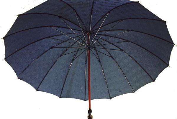 ■前原光榮Gentle 16(ネイビー)楓(かえで)ハンドル皇室御用達 前原光榮商店 紳士雨傘お名前彫りなしは即納できますお名前彫り有の場合は12/6(水)頃仕上がり予定心斎橋みや竹オリジナル仕様