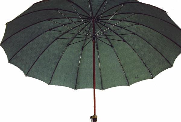 ■前原光榮Gentle 16(グリーン)前原光栄商店 紳士雨傘お名前彫りなしは即納できますお名前彫り有の場合は6/13(水)仕上がり予定心斎橋みや竹オリジナル仕様皇室御用達の職人がつくる紳士傘誕生祝や退職祝にもお薦めです