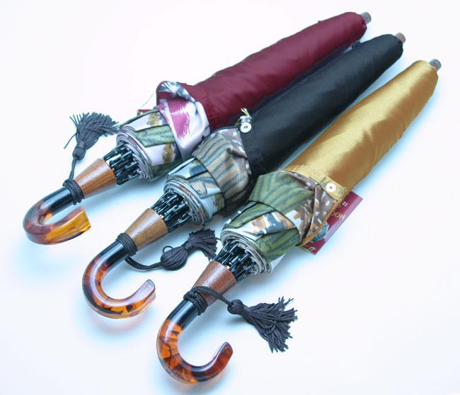★二段折畳雨傘【両面 ほぐし織】モンブラン婦人雨傘・折傘 『舞姫』比類無き浪漫薫る傘