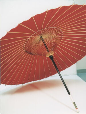 ◆ストリート蛇の目 (赤) 藤沢商店の和傘