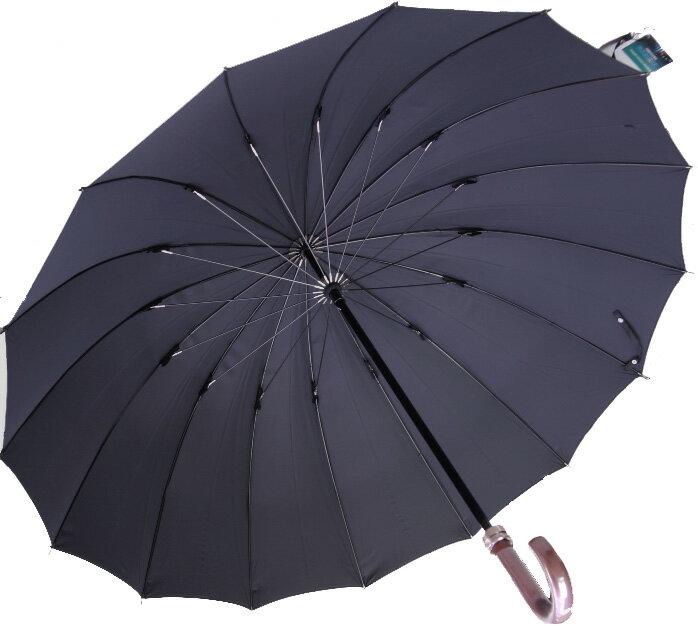 ◆Komiya7016◆LL70cm16本骨紳士傘(色:ピュアブラック)ファインデニール繊維ミラトーレ仕様とも生地外袋つき シンプルで洗練されたベーシックカラー ピュアブラックお名前入れなしは即納OKお名前入れ有の場合は11/29(水)頃仕上がり予定