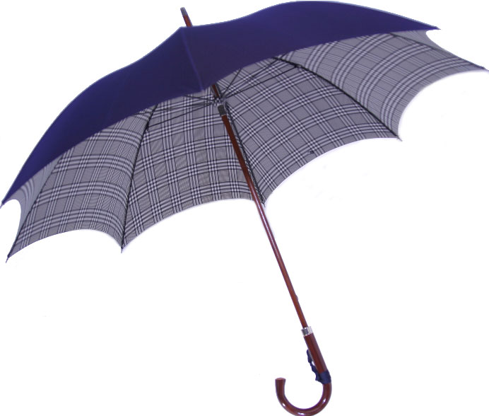 ◆米田正一 正絹紳士傘◆【受注作成】グレンチェック紺(Yoneda31N)大阪 船場の匠がつくる最高級正絹紳士傘※基本の「籐」ハンドルにて作成作成期間約4週間※ただいまネームクラフトは施せません