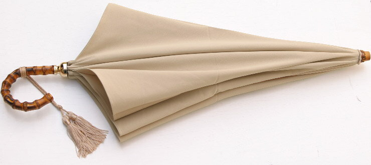 ワカオ ジョアンヌ Excel-Mode47(ベージュ)WAKAO 晴雨兼用折畳47cm折UVパワーカット・サラクール生地心斎橋みや竹オリジナル仕様店主おすすめ ワカオ UVカット日傘