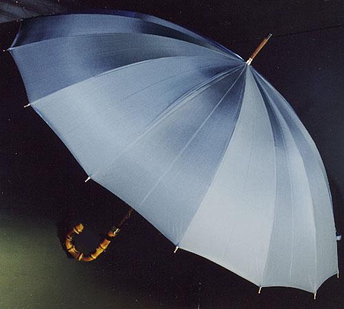 ■前原光栄Bamboo16 (ブルーグレー)「皇室御用達」前原光榮商店 紳士雨傘いつまでも持ち続けたい傘。持つほどに愛着がわく紳士傘お名前彫りなしは即納できます御名前入れありは3/7(水)仕上がり予定