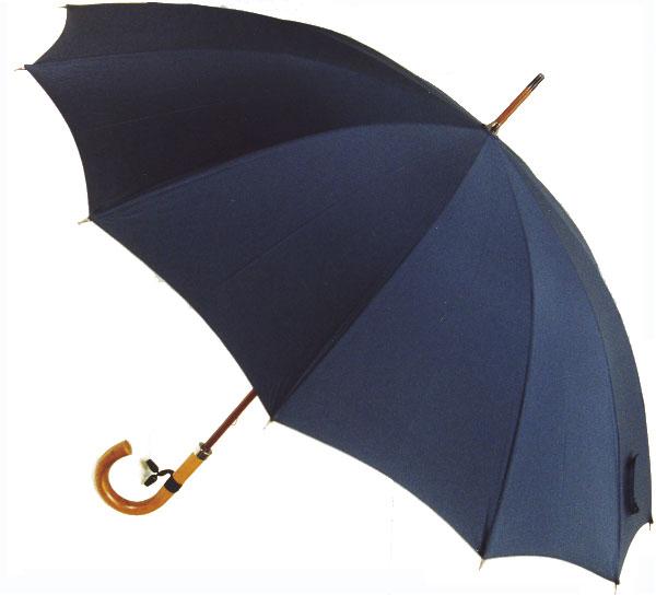 【受注生産】所要約2ヶ月◆Malacca Dandy12(濃紺ネイビー) (63.5cmx12ken レギュラーサイズのマラッカダンディ)「皇室御用達」前原光榮商店 紳士雨傘)心斎橋みや竹オリジナル仕様