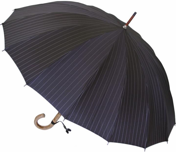 ■前原光榮Euro Prince16 (パーマネント・ブラック )「皇室御用達」前原光榮商店 紳士雨傘お名前彫りなしは即納できますお名前彫り有の場合は9/1(土)仕上がり予定